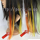 Яркие искусственные термопряди волос апельсинового цвета , фото 9