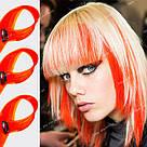 Яркие искусственные термопряди волос апельсинового цвета , фото 10