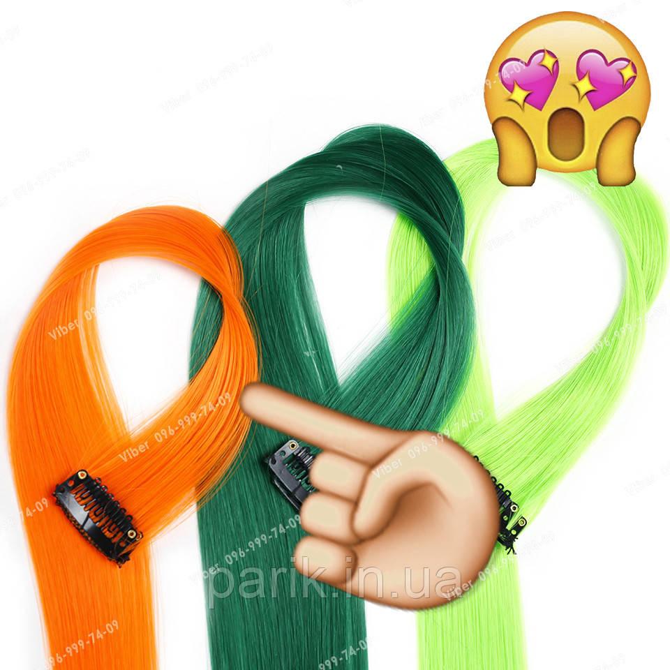 Яркие искусственные термопряди волос апельсинового цвета