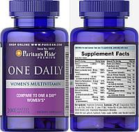 Puritan's Pride, Комплекс витаминов One Daily для женщин, 200 таблеток