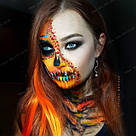Накладные цветные пряди на волосы, оранж, фото 5