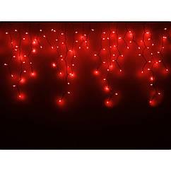 Гирлянда внешняя ICICLE   (Рваная штора, бахрома) Красная 2000x700 Каучук