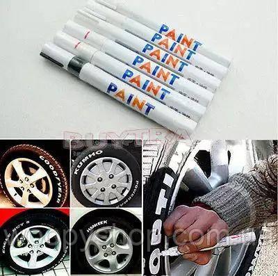 Маркер для шин автомобиля белый