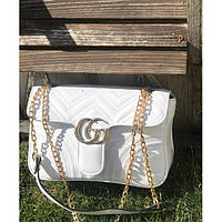 Женская сумочка Gucci (Гуччи), белый цвет, фото 1