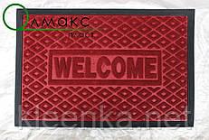 Коврик от грязи под двери с рисунком ромбы красный 40*60 см