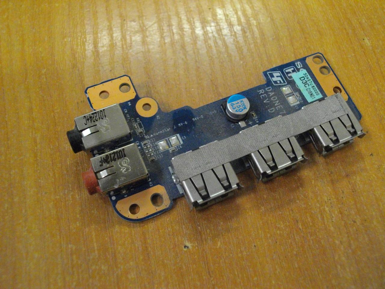 Плата DA0NE7TB6D0 с гнездом аудио звук и USB портами Sony PCG-61611L бу