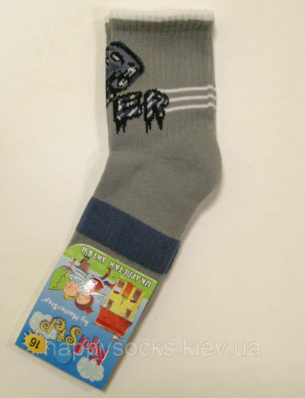 Носки хлопковые с махровым следом для мальчика с пантерой