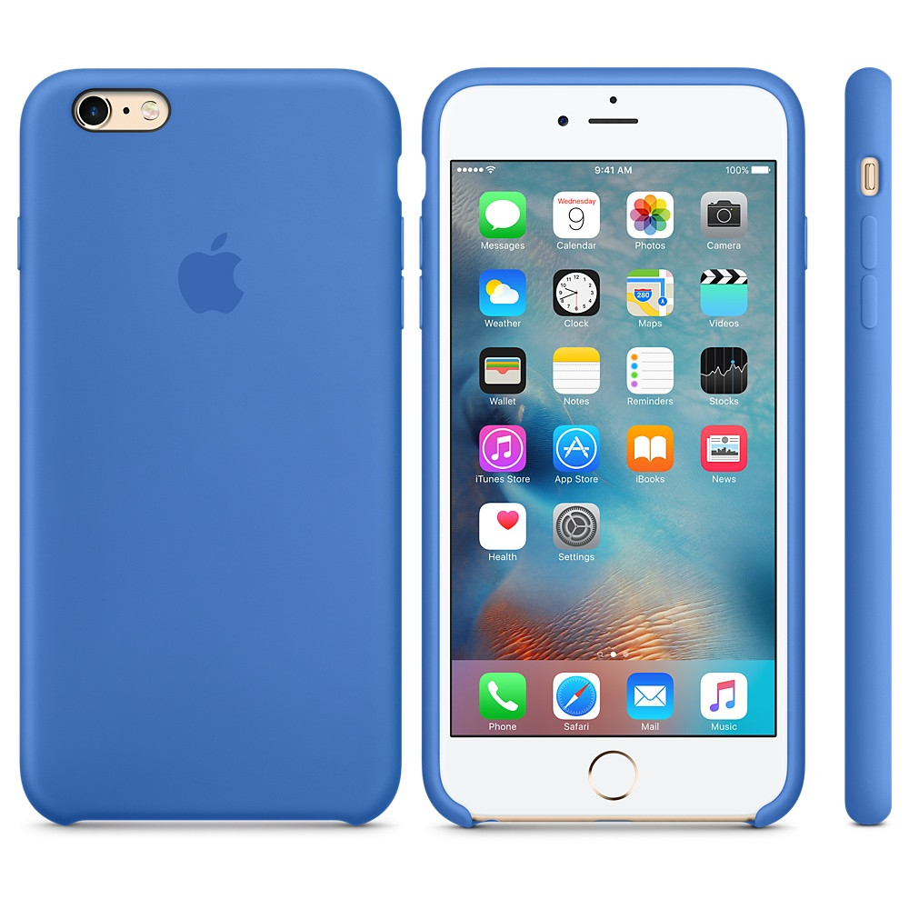 Apple Silicon Case for iPhone 6 Plus/6S Plus Blue