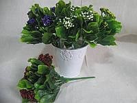 Ягоды в больших листьях, высота ветки 22 см, 25\20 (цена за 1 шт. + 5 гр.) , фото 1