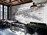 Как оригинально оформить кафе. Новые материалы старый кирпич и роспись.