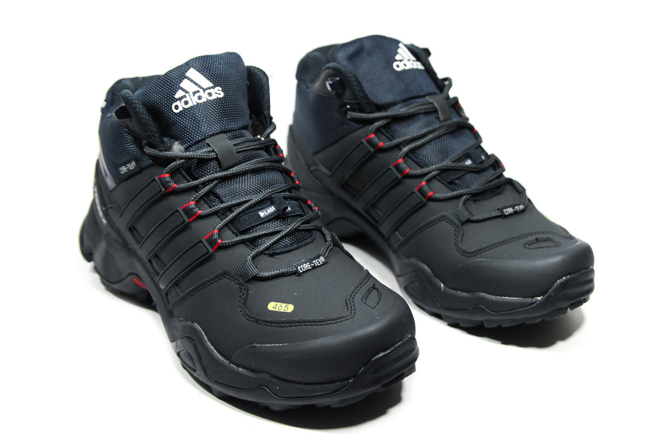 bf1730dd7ec4 Мужские зимние кроссовки на меху в стиле Adidas Terrex, черные. Код товара   ДП