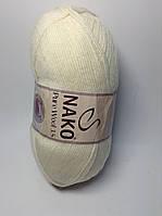 Пряжа nako pure wool 3.5 - цвет кремовый