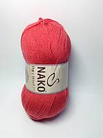 Пряжа nako pure wool 3.5 - цвет алый