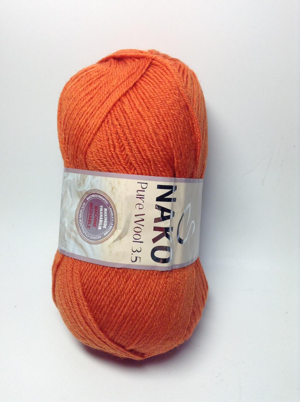 Пряжа nako pure wool 3.5 - цвет светло-рыжий