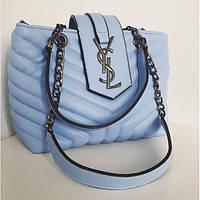 Женская сумочка YSL (Ив Сен Лоран), голубой цвет