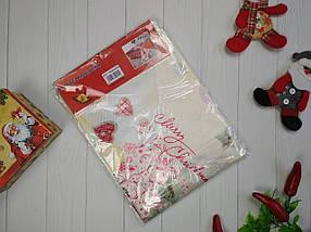 Скатерть новогодняя атласная 150*220 см Рождество, новогодние атласные скатерти оптом от производителя , фото 3
