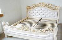 Деревяне ліжко Корона