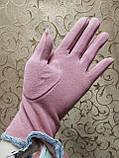 Трикотаж женские перчатки Эластичный(только ОПТ), фото 4