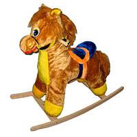 Качалка КХ лошадка средняя, коричневая