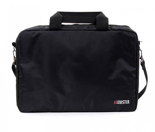 Сумка для ноутбука 15.6' Lobster LBS15T1B, Black, полиэстер, 41 х 29 х 3.7 см, фото 2