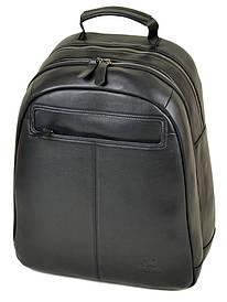Мужской кожаный городской рюкзак BRETTON BE 8003-73 черный