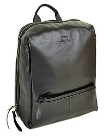 Чоловічий шкіряний міський рюкзак чорного кольору BRETTON BE 2004-5 чорна