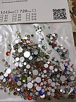 Стразы микс цвета и микс размер (стекло), 100 шт  , фото 1