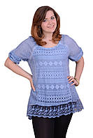 Легкая летняя блузка, ткань х/б