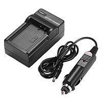 Зарядное устройство AMSAHR для JVC BN-VF707, BN-VF707U, BN-VF707US + автомобильный адаптер