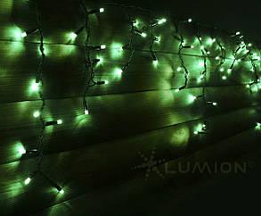 Гирлянда внешняя ICICLE   (Рваная штора, бахрома) Зеленый 2000x700 Каучук