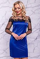 Женское вечернее атласное платье с кружевом (3035-3026-3037-3036 svt)