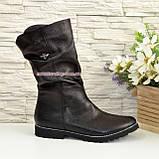 Женские зимние ботинки на меху, натуральная черная кожа, фото 2