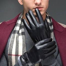 Мужские кожаные перчатки. Модель 18300