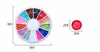 Кристаллы пикси разных цветов в карусельке