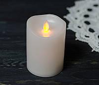 Свеча декоративная Белая LED-подсветкой с мигающим фительком