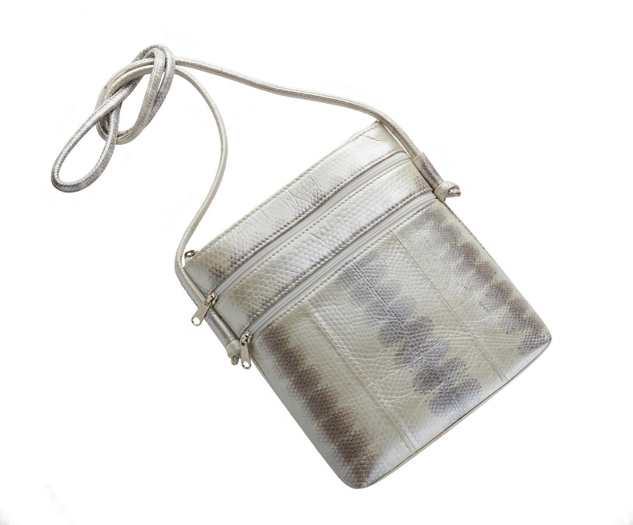 Клатч из кожи морской змеи  Ekzotic Leather Белый (snc 09)