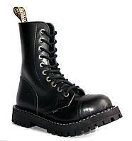 Высокие ботинки Steel черные на 10 дырок 178124 46,45,44,43,42,41,39,40,38,37,36,50,49,48,47