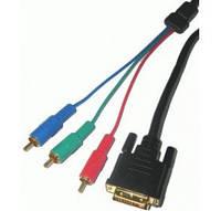Видео кабель DVI-3RCA, 5 м