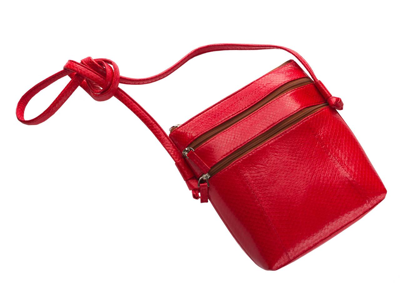 Клатч из кожи морской змеи  Ekzotic Leather Красный (snc 09_1)