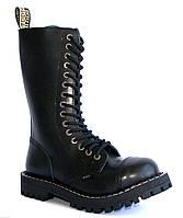 Высокие ботинки Steel черные на 15 дырок 179009 46,45,44,43,42,41,40,39,38,37,36,50,49,48,47