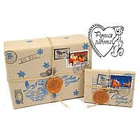 """Упаковка """"Посылка от Деда мороза"""" (сургучная печать, марки, печати)"""