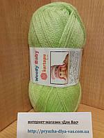 Детская полушерсть (30%-шерсть,20%-полиамид,50%-акрил; 50г/148м) Kartopu Woolly Baby K439(салатовый)