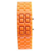 Светодиодные часы Самурай Оранжевый