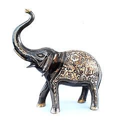 Слон латунный с гравировкой ручной работы 30 см