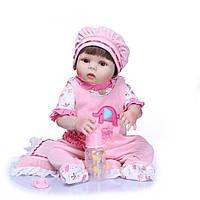 Кукла реборн 57 см полностью виниловая девочка Лида