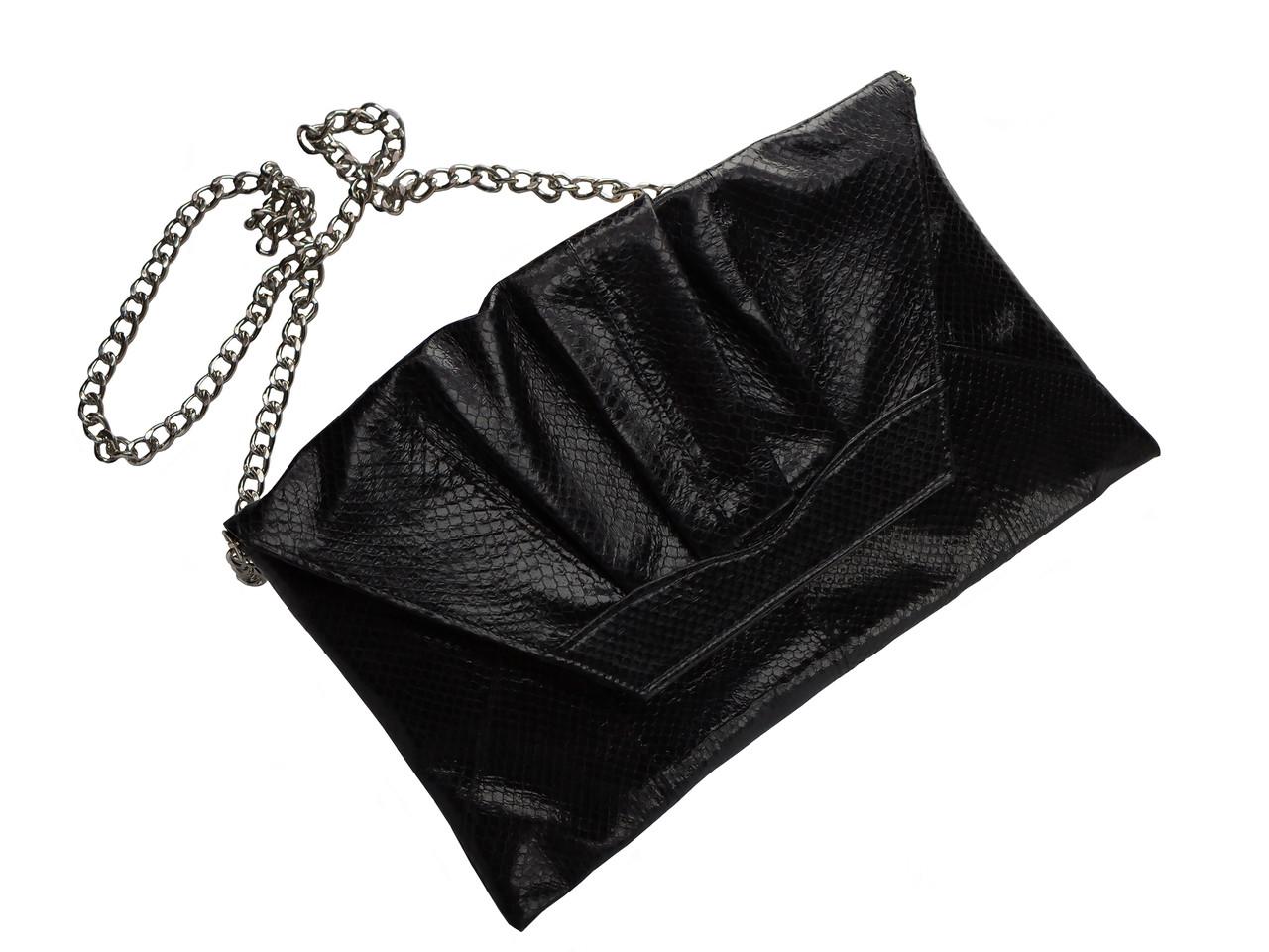 Клатч из кожи морской змеи  Ekzotic Leather Черный (snc 08)