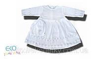 Крестильное платьеце и шапочка СHRZ-11