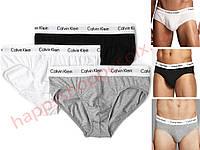 Мужские трусы слипы ( брифы ) Calvin Klein хлопок, 3 шт. в уп. Супер качество. Реплика