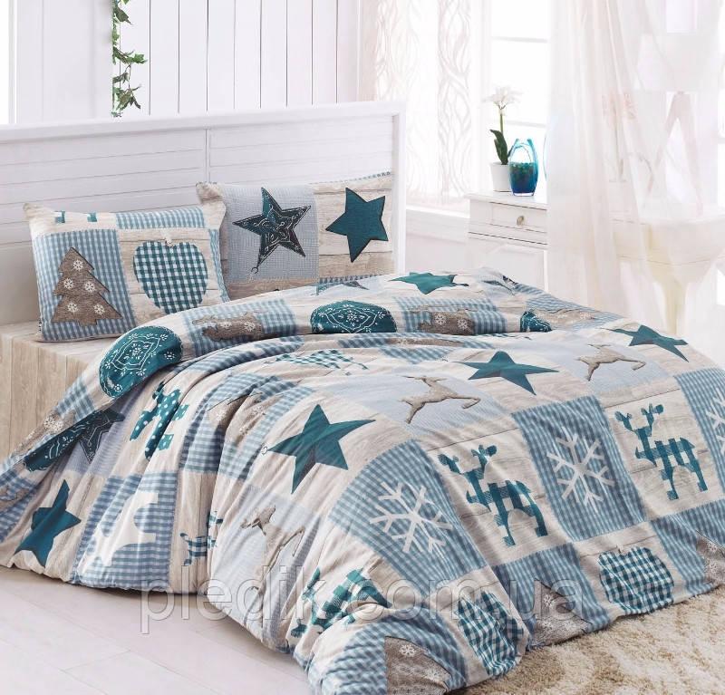 5b7dcc2b37c3 Полуторное постельное белье LightHouse бязь голд STARS голубой  9863-01_1.5LH - pledik.