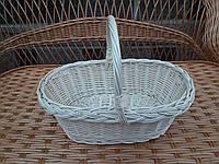 Плетеная подарочная корзина из белой лозы, фото 1